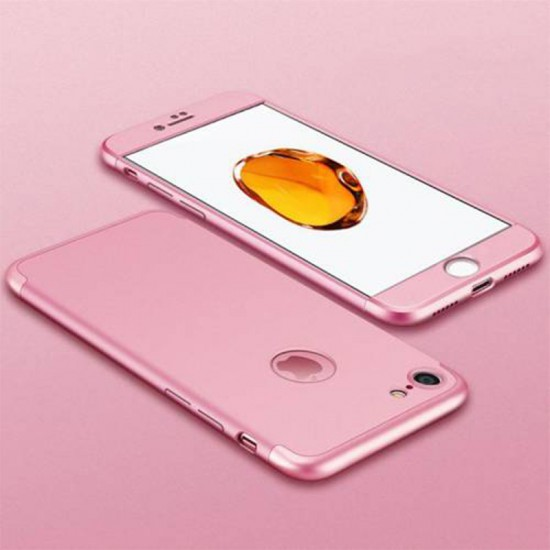 Secron Apple iPhone  7 Plus 360 Derece Ays Tam Korumalı Kılıf - Rose