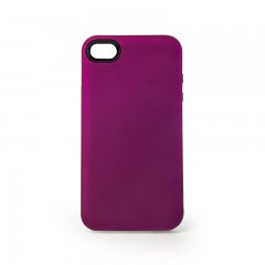 Secron Apple iPhone 4 - 4S Renkli Rubber Kılıf - Lila-Mor