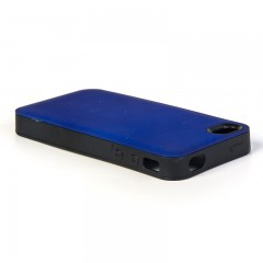 Secron Apple iPhone 4 - 4S Renkli Rubber Kılıf -Lacivert