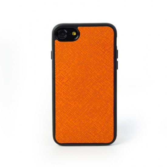 Weoze Apple iPhone 7 - 8 Orange Deri Kılıf